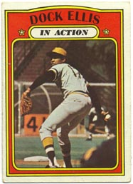1972 Topps Baseball Cards      180     Dock Ellis IA